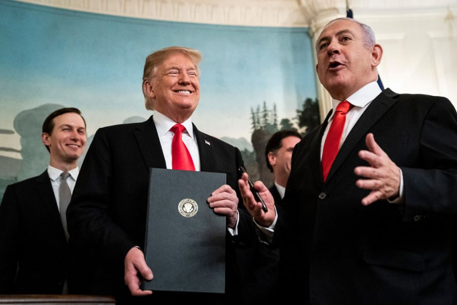 President+Donald+Trump+and+Israeli+Prime+Minister+Benjamin+Netanyahu%2C+right%2C+talk+after+signing+a+presidential+proclamation+on+Golan+Heights+in+the+Diplomatic+Reception+Room+at+the+White+House%2C+March+25%2C+2019.+%28Jabin+Botsford%2FThe+Washington+Post+via+Getty+Images%29