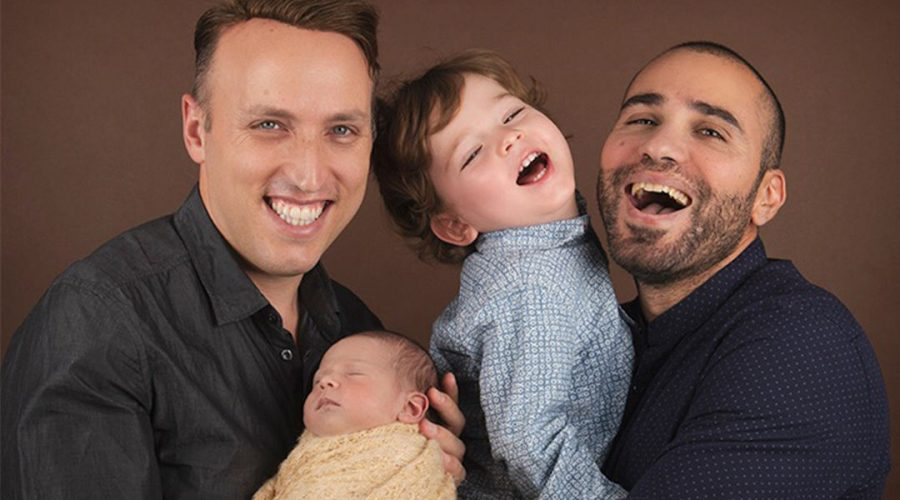 Roee+and+Adiel+Kiviti%2C+with+their+son+and+daughter+Kessem.+Photo+courtesy+of+Immigration+Equality