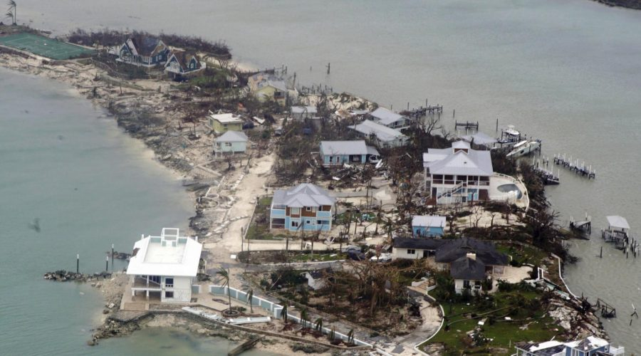 An+aerial+view+of+houses+in+the+Bahamas+from+a+Coast+Guard+Elizabeth+City+C-130+aircraft+after+Hurricane+Dorian+shifts+north%2C+Sept.+3%2C+2019.+Photo%3A+U.S.+Coast+Guard+by+Petty+Officer+2nd+Class+Adam+Stanton+via+Getty+Images
