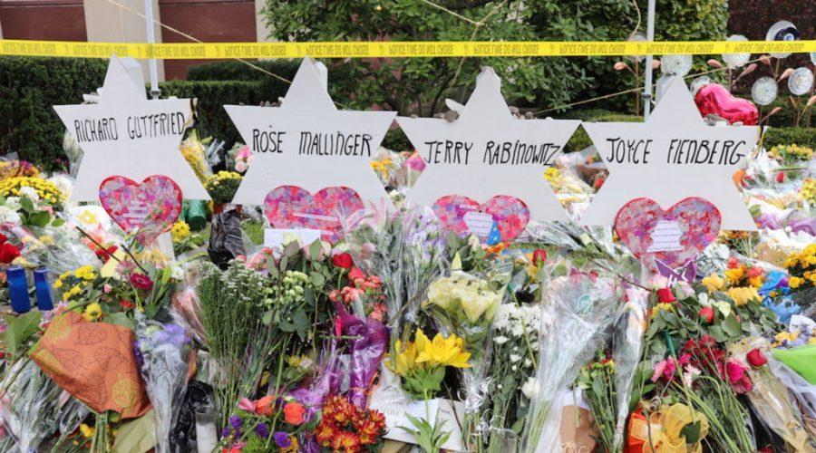 A+memorial+for+the+victims+of+the+Tree+of+Life+synagogue+shooting+in+Pittsburgh.+Photo%3A+Hane+Grace+Yagel