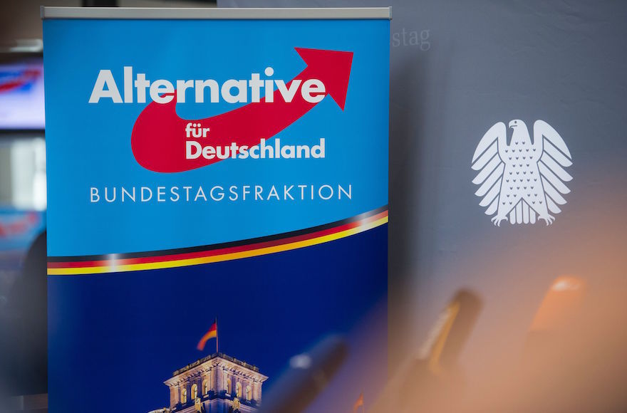 An+AfD+poster+in+Berlin%2C+Sept.+26%2C+2017.+Photo%3A+Steffi+Loos%2FAFP%2FGetty+Images