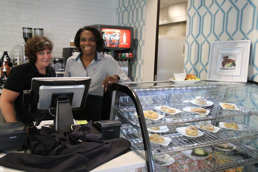 (L-R): Theresa Mann and Connie Williams are front-of-the-house managers at HJ's Cafe, a new restaurant inside Covenant Place with kosher and non-kosher kitchens.