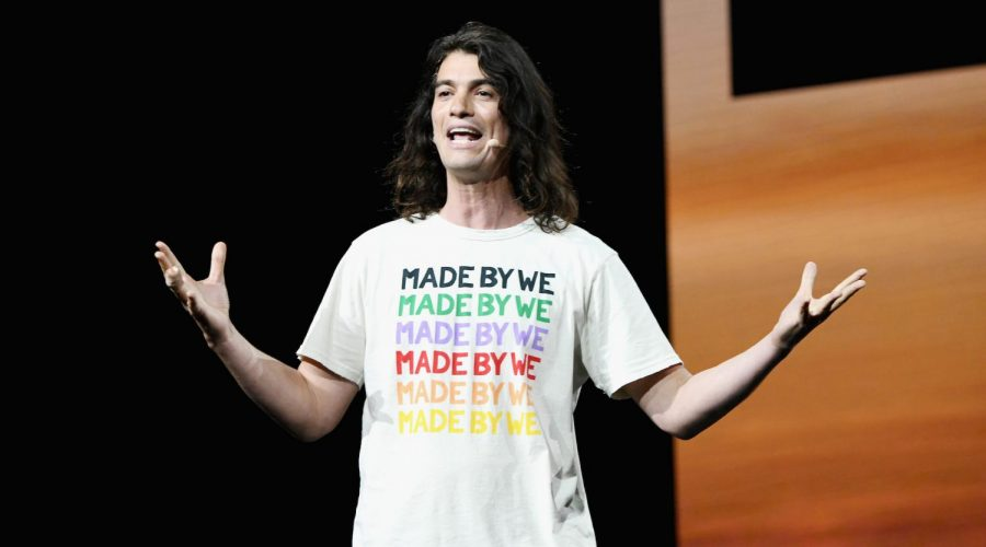 Adam+Neumann+speaks+at+a+WeWork+event+at+the+Microsoft+Theater+in+Los+Angeles%2C+Jan.+9%2C+2019.+%28Michael+Kovac%2FGetty+Images+for+WeWork%29