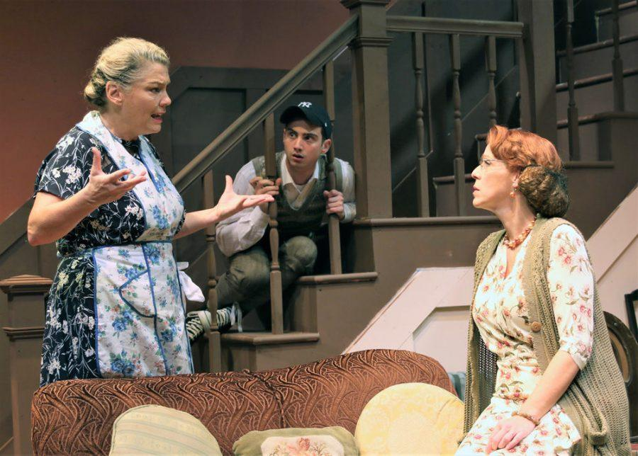 Jacob Flekier, Laurie McConnell and Jane Paradiseperform in New Jewish Theatre's production of 'Brighton Beach Memoirs.'Photo: Greg Lazerwitz