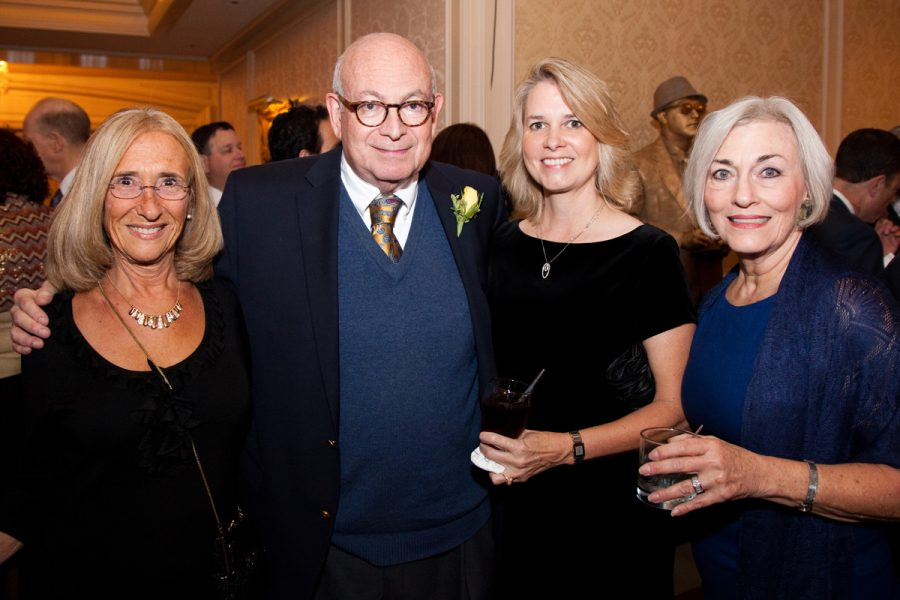 At the Light's 50th anniversary gala event, Bob Cohn is shown with former Light staffers (from left) Carol Lundgren, Peggy Northcott and Linda Mantle. Photo: Kristi Foster