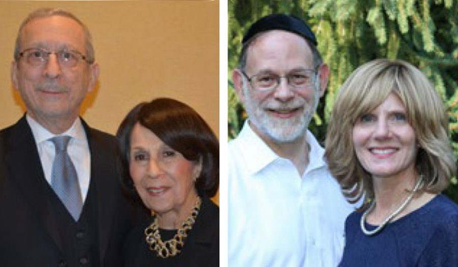 The honorees at Esther Miller Bais Yaakov High School's 25th anniversary dinner will include (from left)Yale and Gail Miller, Dr. Craig and Dr. Jackie Reiss.