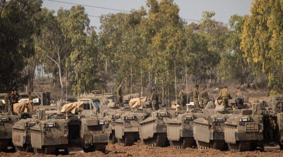 Israeli+soldiers+at+a+staging+area+in+southern+Israel%2C+near+the+border+with+the+Gaza+Strip%2C+Nov.+13%2C+2019.+A+cease-fire+between+Israel+and+Gaza+terror+groups+went+into+effect+on+the+following+morning+after+450+rockets+were+fired+from+Gaza+into+Israel+in+the+wake+of+Israel%27s+assassination+of+a+terror+leader.+Photo%3A+Yonatan+Sindel%2FFlash90