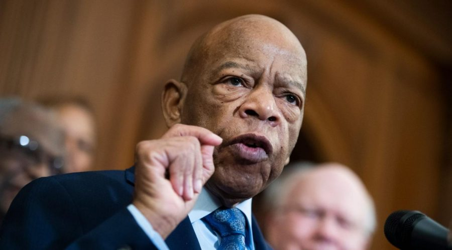 Rep.+John+Lewis+speaks+at+a+news+conference+in+the+Capitol+on+the+Voting+Rights+Advancement+Act%2C+Dec.+6%2C+2019.+%28Tom+Williams%2FCQ-Roll+Call%2C+Inc+via+Getty+Images%29