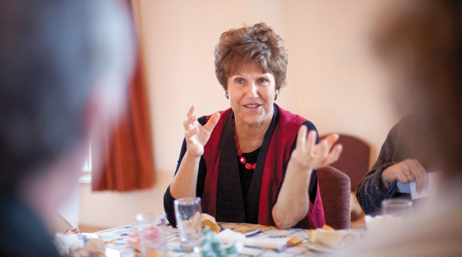 Joan Nathan at a National Yiddish Book Center event in Amherst, Mass., in 2011