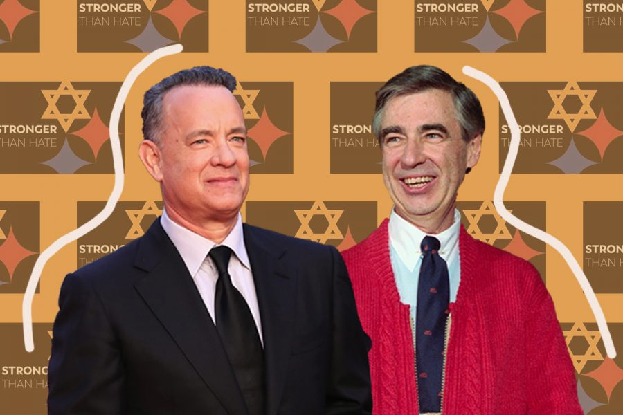 Tom+Hanks%2C+left%2C+and+Mister+Rogers%2C+whom+he+portrays+in+a+film+about+the+famed+TV+show+host.+%28Vittorio+Zunino+Celotto%2FGetty+Images%3B+Bettmann%2FGetty+Images