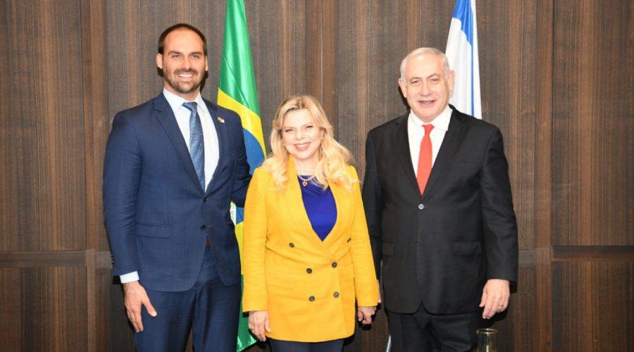 Eduardo+Bolsonaro%2C+the+son+of+Brazils+president%2C+with+Prime+Minister+Benjamin+Netanyahu+and+wife+Sara%2C+Dec.+15%2C+2019.+%28Amos+Ben-Gershom%2FIsraeli+Government+Press+Office%29