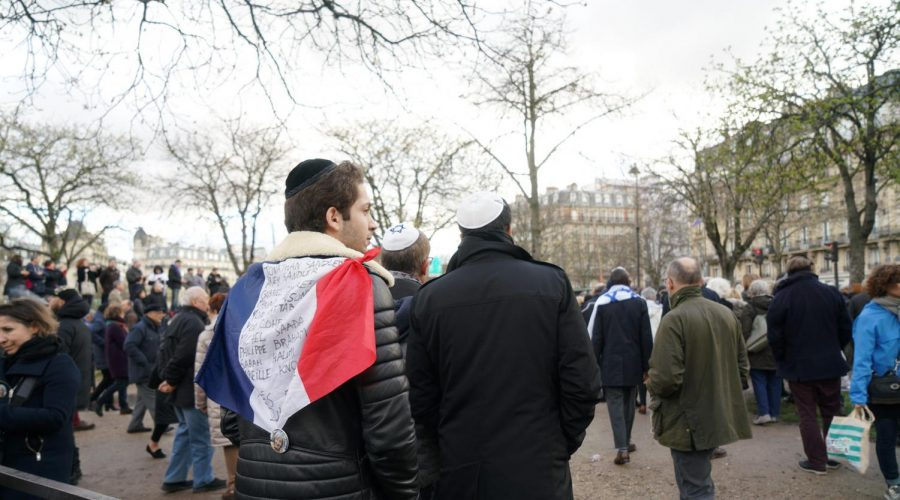 French+Jews+protest+anti-Semitic+violence+in+Paris%2C+March+28%2C+2018.+%28Cnaan+Liphshiz%29