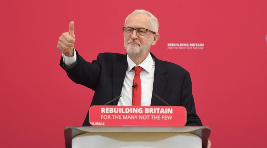 Jeremy+Corbyn+makes+a+speech+in+August+2019.+The+Labour+leader+has+been+accused+of+allowing+anti-Semitism+in+his+party.+%28Joe+Giddens%2FPA+Images+via+Getty+Images%29