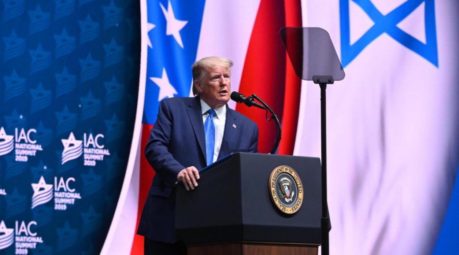 President+Donald+Trump+speaks+at+the+Israeli-American+Council%27s+annual+conference+in+Hollywood%2C+Fla.%2C+Dec.+7%2C+2019.+%28Noam+Galai%29