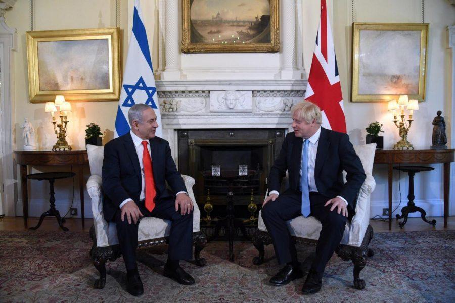 Israeli+Prime+Minister+Benjamin+Netanyahu+sits+with+his+British+counterpart+Boris+Johnson+in+London%2C+Sept.+5%2C+2019.+%28Courtesy%29
