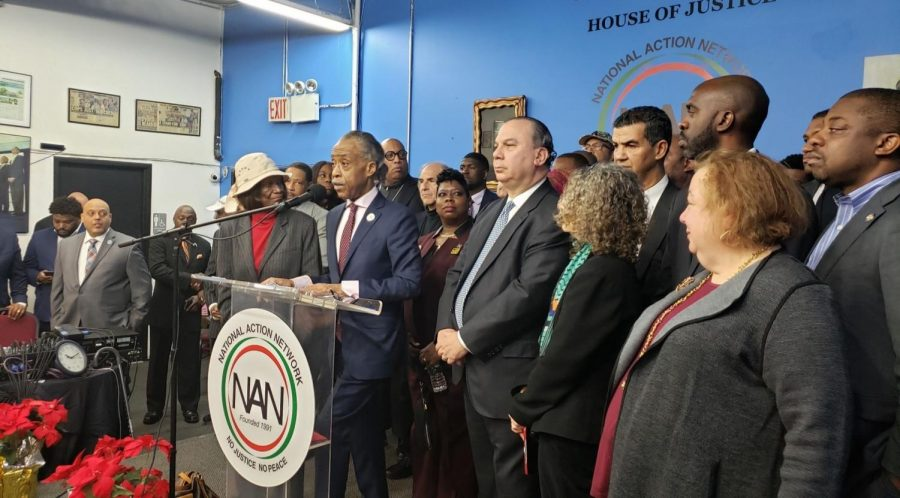 The+Rev.+Al+Sharpton+and+Rabbi+Marc+Schneier%2C+president+of+the+Foundation+for+Ethnic+Understanding%2C+talk+to+reporters+after+a+meeting+with+African-American+clergy+and+civil+rights+leaders+to+condemn+the+attacks+on+Jews+in+New+York+in+recent+weeks.+%28Courtesy+of+the+Foundation+For+Ethnic+Understanding%29