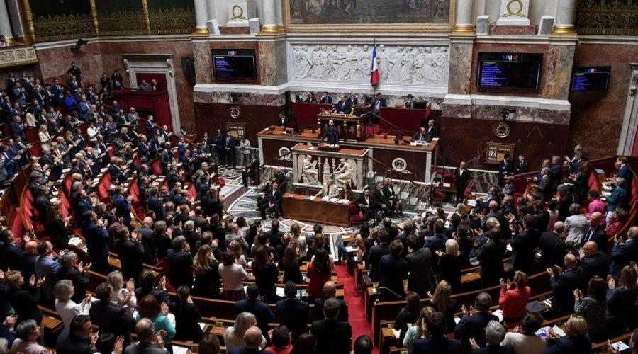 French+Prime+Minister+Edouard+Philippe+speaking+at+the+National+Assembly+in+Paris%2C+June+12%2C+2019+%28Alain+Jocard%2FAFP+via+Getty+Images%29