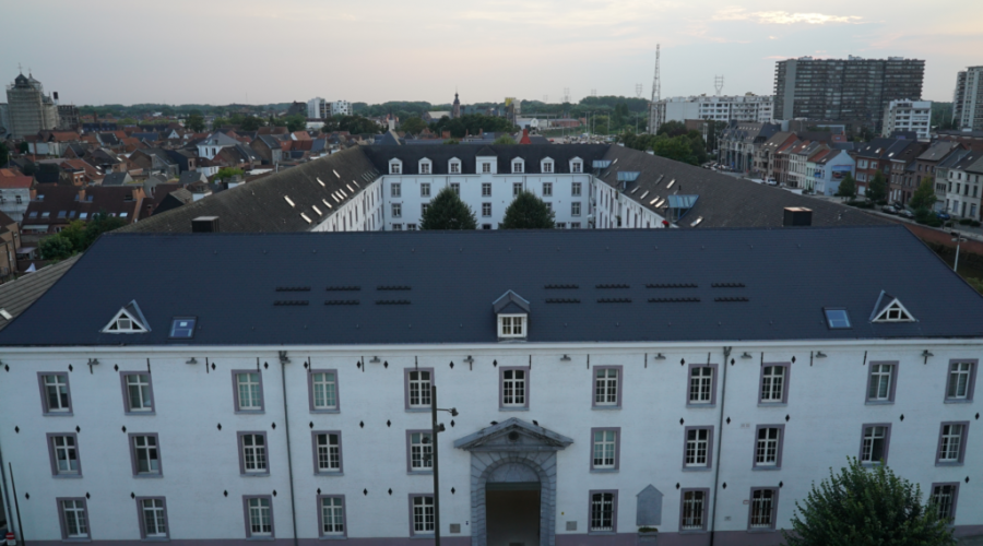 The+former+Dossin+barracks+photographed+from+the+balocny+of+The+Kazerne+Dossin+%E2%80%93+Memorial%2C+Museum+and+Documentation+Centre+on+Holocaust+and+Human+Rights+in+Mechelen%2C+Belgium.+%28Michel+van+der+Burg%2FWikimedia+Commons%29