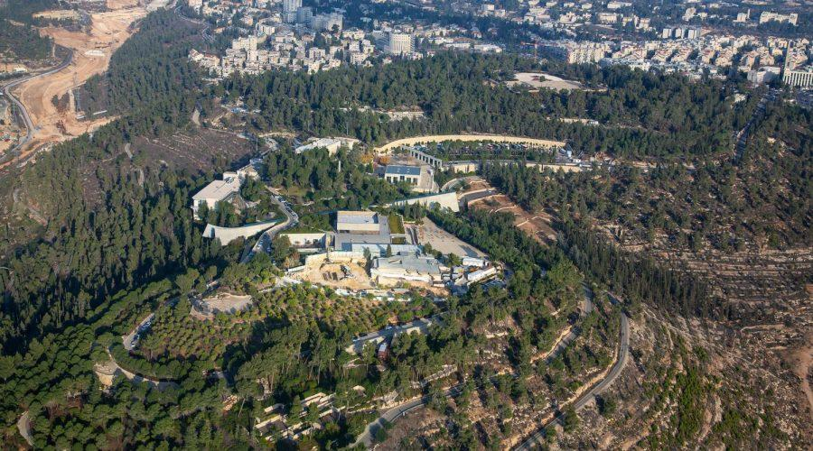 An+aerial+view+of+the+Yad+Vashem+Holocaust+memorial+museum+in+Jerusalem%2C+Dec.+17%2C+2019.+Dozens+of+world+leaders+are+set+to+converge+there+for+a+commemoration+of+the+75th+anniversary+of+the+liberation+of+Auschwitz.+Photo%3A+Moshe+Shai%2FFlash90