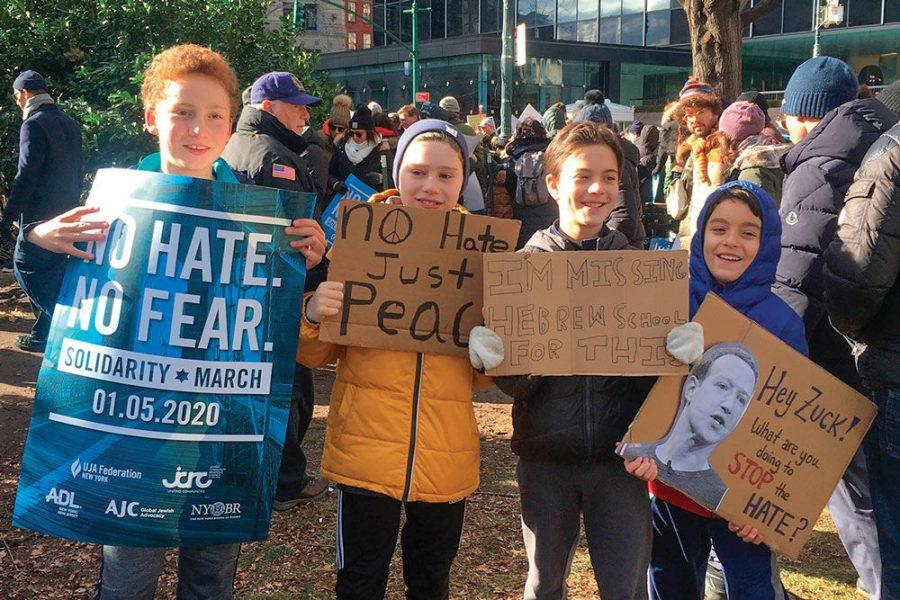 Kids+at+the+march+against+anti-Semitism+in+New+York+on+Jan.+5.+Photo%3A+Lisa+Keys