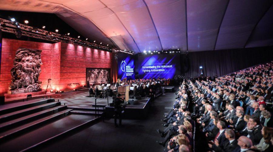 Israeli+President+Reuven+Rivlin+speaks+during+the+Fifth+World+Holocaust+Forum+at+the+Yad+Vashem+Holocaust+memorial+museum+in+Jerusalem%2C+Israel%2C+Jan.+23%2C+2020.+Photo+by+Yonatan+Sindel%2FFLASH90+%E2%80%82%E2%80%82%E2%80%82%E2%80%82