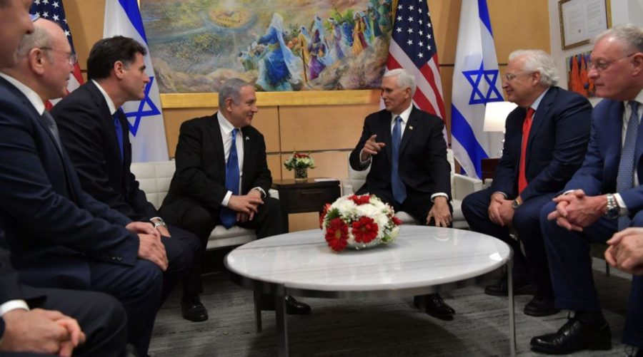 Prime+Minister+Benjamin+Netanyahu+meets+with+Vice+President+Mike+Pence+at+the+U.S.+.Embassy+in+Jerusalem%2C+Jan.+23%2C+2020.+%28Koby+Gideon%2C+Israeli+Government+Press+Office%29