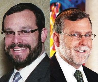 Rabbi Yosef David (left) and Rabbi Shmuel Greenwald (right)