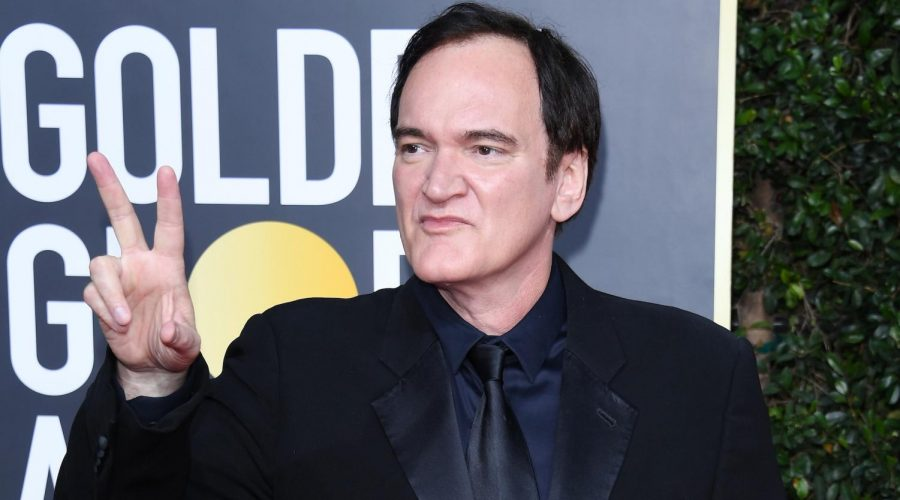 Quentin+Tarantino+at+the+Golden+Globes+at+The+Beverly+Hilton+Hotel+in+Los+Angeles%2C+Jan.+5%2C+2020.+%28Daniele+Venturelli%2FWireImage%2FGetty+Images%29