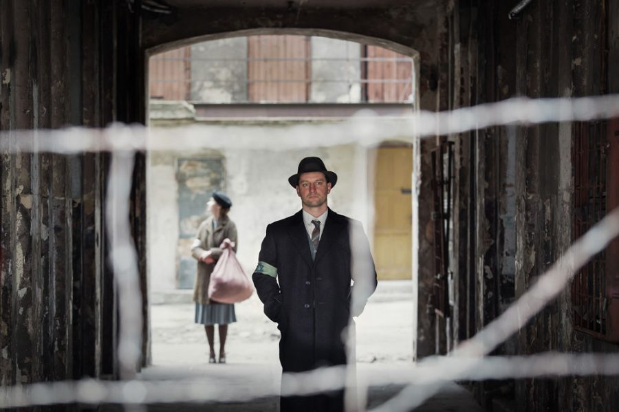Actor Wojciech Zielinski as Abraham Lewin in the film 'Who Will Write Our History,' about Oyneg Shabes, a group of Warsaw Jews who created a secret archive of eyewitness accounts of Jewish life in Warsaw and documentation of Nazi atrocities. Photo: Anna Wloch