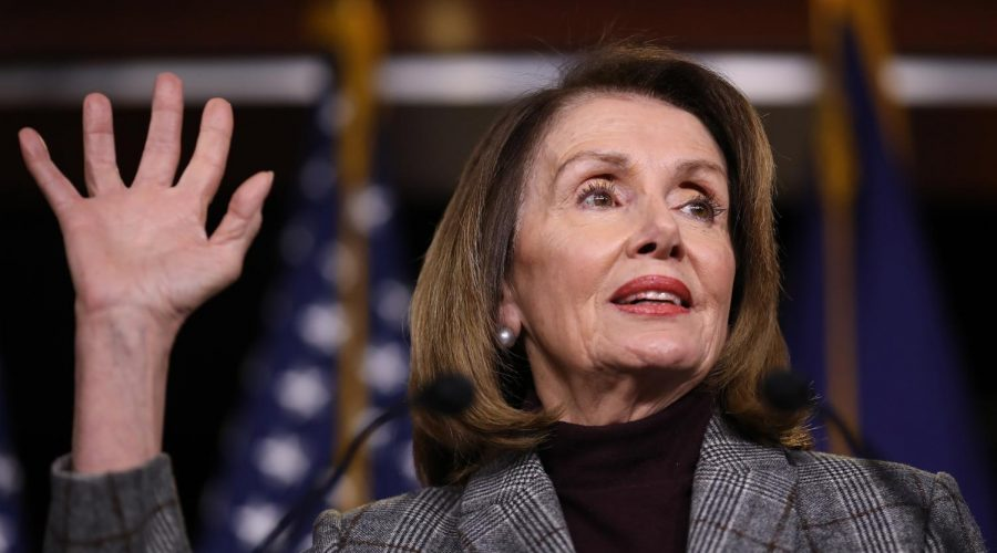Nancy+Pelosi+at+her+weekly+news+conference+at+the+Capitol%2C+Feb.+28%2C+2019.+%28Win+McNamee%2FGetty+Images%29