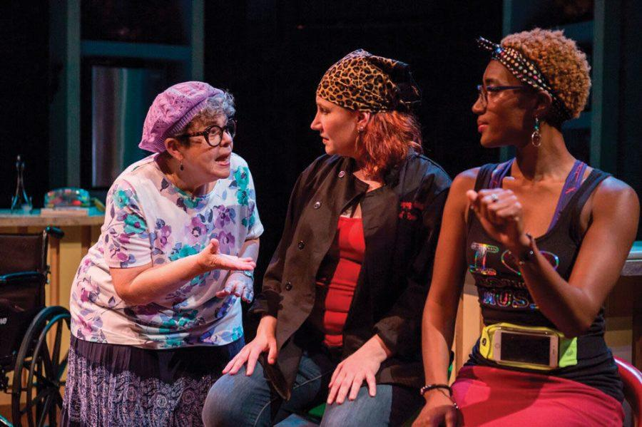 Kathleen Sitzer, Sarajane Alverson and Erin Renee Roberts perform in the New Jewish Theatre production of 'Raging Skillet' last fall. Photo: Eric Woolsey