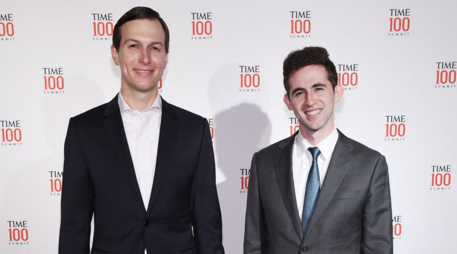 Avi+Berkowitz%2C+right%2C+with+Jared+Kushner+at+the+TIME+100+Summit+in+New+York+City%2C+April+23%2C+2019.+%28Craig+Barritt%2FGetty+Images+for+TIME%29