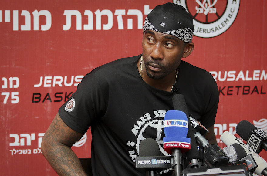 Amar%27e+Stoudemire%2C+speaking+at+a+press+conference+in+Jerusalem%2C+August+8%2C+2016%2C+called+for+an+end+to+anti-Semitism+among+African-Americans+in+the+wake+of+the+Dec.+28%2C+2019+attack+at+a+rabbi%27s+home+in+Monsey%2C+New+York.+%28Flash90%29