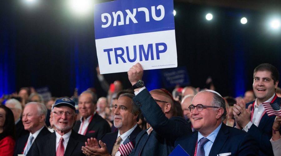 Supporters+of+Donald+Trump+hold+signs+in+Hebrew+and+English+as+the+president+speaks+at+the+Republican+Jewish+Coalition%27s+annual+leadership+meeting+in+Las+Vegas%2C+April+6%2C+2019.+%28Saul+Loeb+%2F+AFP+via+Getty+Images%29
