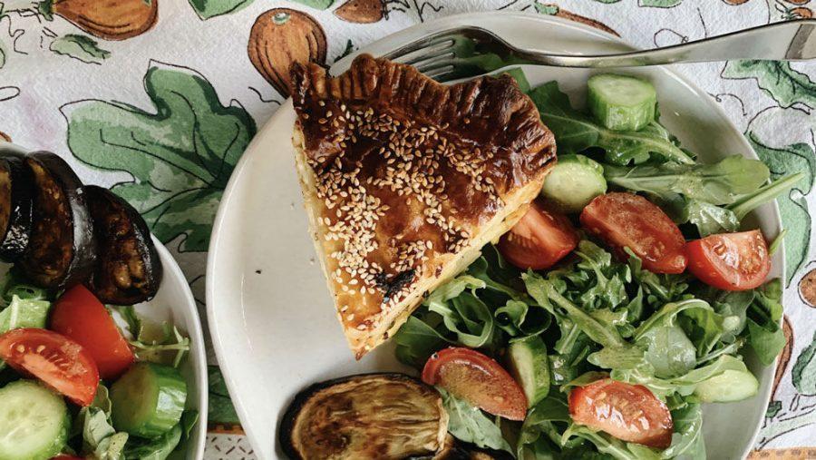 Zucchini, potato and Manchego pashtida.