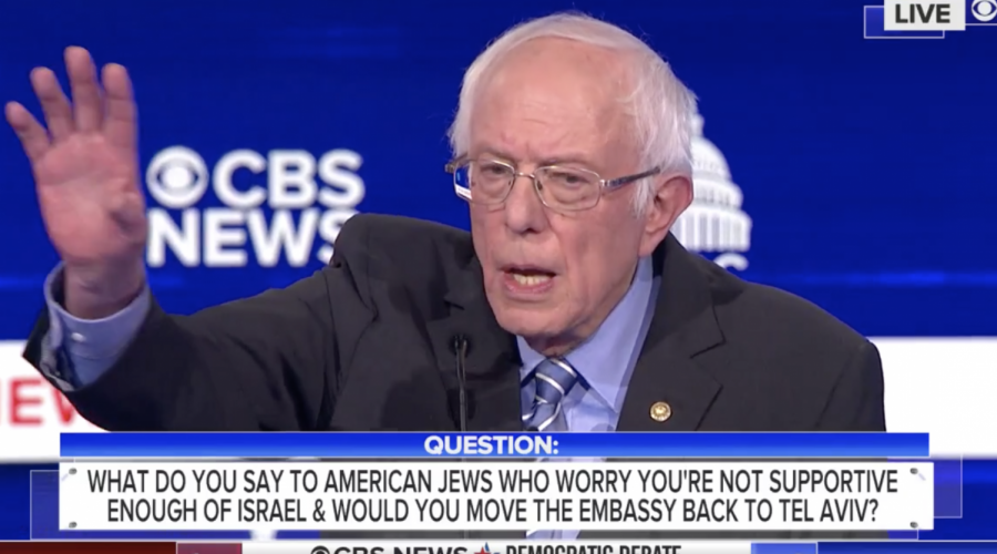 Bernie Sanders was asked during the Feb. 25, 2020, Democratic debate how he would respond to American Jews who are concerned about his stances on Israel.