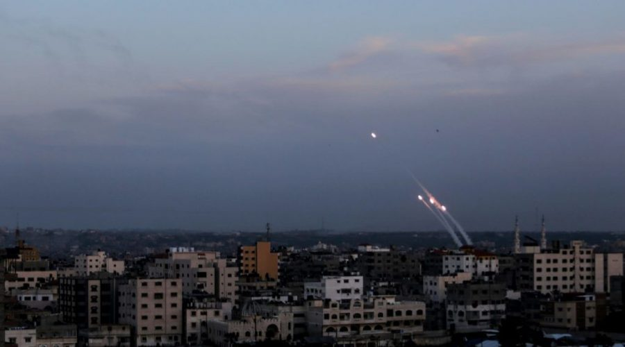 Rockets+are+fired+from+Gaza+toward+southern+Israel%2C+May+5%2C+2019.+%28Mahmoud+Issa%2FSOPA+Images%2FLightRocket+via+Getty+Images%29