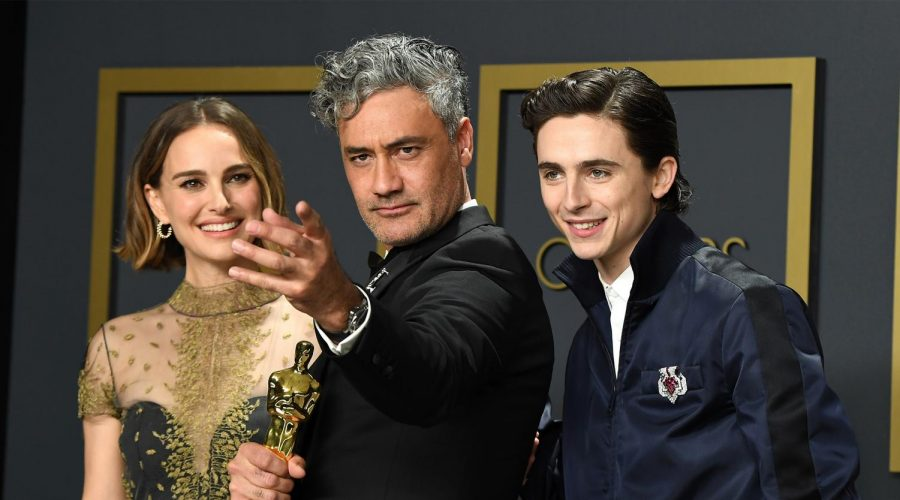 Jewish+stars+Natalie+Portman%2C+Taika+Waititi%2C+and+Timoth%C3%A9e+Chalamet+pose+in+the+press+room+during+the+92nd+Annual+Academy+Awards+%28Photo+by+Steve+Granitz%2FWireImage%29