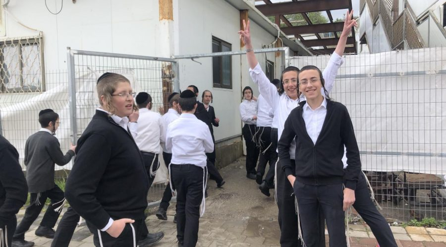 Some+of+the+students+at+a+haredi+boys+school+in+Ramat+Beit+Shemesh+Bet%2C+just+west+of+Jerusalem%2C+where+classes+are+still+being+held%2C+March+18%2C+2020.+%28Sam+Sokol%29%C2%A0