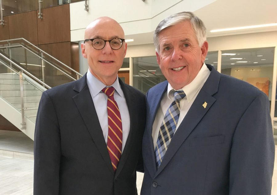 Gov.+Mike+Parson+%28right%29+and+Andrew+Rehfeld%2C+former+president+and+CEO+of+Jewish+Federation+of+St.+Louis