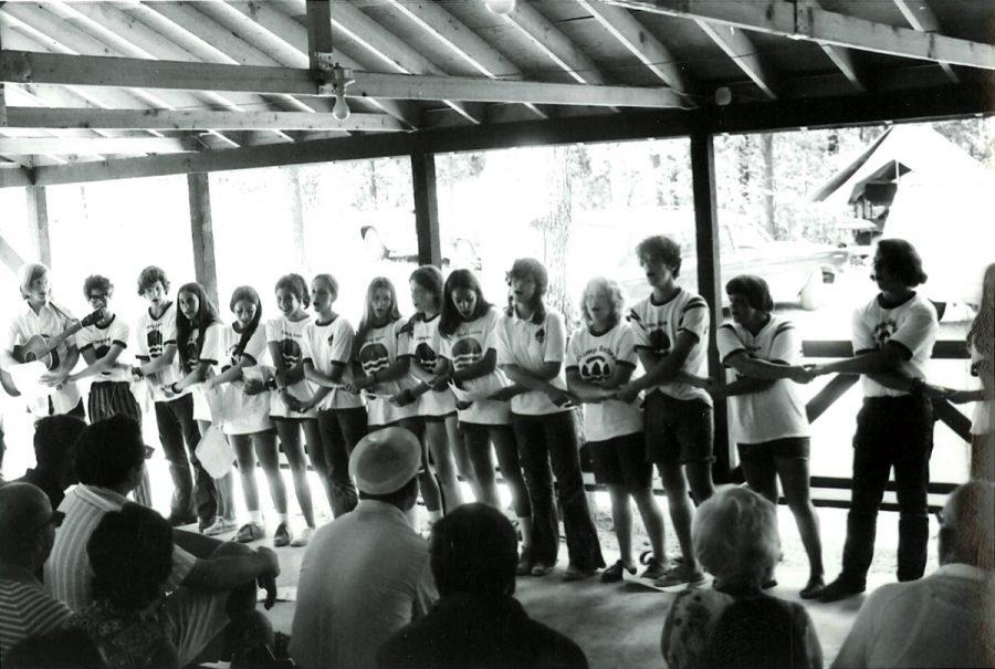 An image of Camp Sabra in the 1970s.