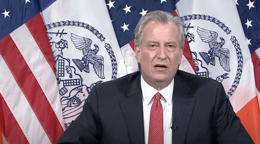 New+York+City+Mayor+Bill+de+Blasio+addresses+questions+about+the+Police+Department%E2%80%99s+coordination+with+organizers+of+a+large+funeral+in+Brooklyn%2C+April+29%2C+2020.+%28Screenshot+from+YouTube%29
