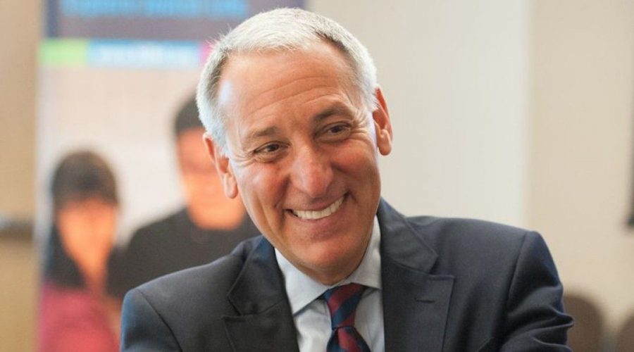 Eric+Fingerhut%2C+CEO+and+president+of+Jewish+Federations+of+North+America%2C+announced+layoffs+and+executive+salary+cuts+in+a+message+to+board+members+and+federation+executives+Wednesday.+%28Courtesy+of+Hillel%29