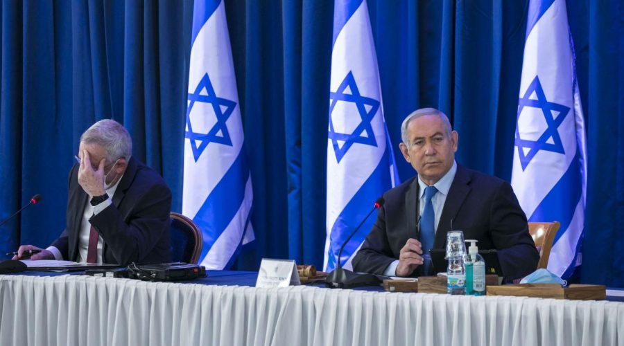 Israeli+prime+minister+Benjamin+Netanyahu%2C+right%2C+and+Defense+Minister+Benny+Gantz+at+a+meeting+at+the+Ministry+of+Foreign+Affairs+in+Jerusalem%2C+June+28%2C+2020.+%28Olivier+Fitoussi%2FFlash90%29