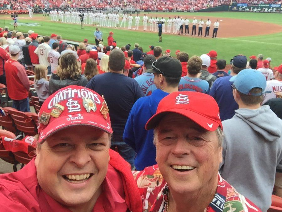 Dr.+Dave+Kersting+%28left%29+and+his+biological+father%2C+Barry+Weinberg%2C+attend+a+Cardinals+game+last+fall.