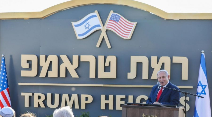 Prime+Minister+Benjamin+Netanyahu+introduces+the+new+Golan+Heights+community+of+Ramat+Trump%2C+or+Trump+Heights%2C+in+honor+of+President+Donald+Trump+to+thank+him+for+recognizing+Israel%E2%80%99s+sovereignty+over+the+strategic+territory%2C+June+16%2C+2019.+%28David+Cohen%2FFlash90%29%C2%A0