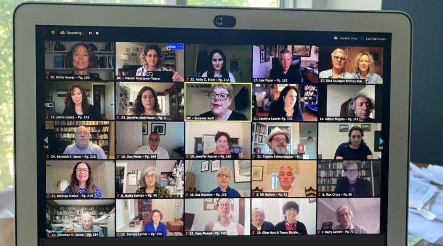 Authors presented their books virtually during the Jewish Book Council's annual conference. (Courtesy of Jewish Book Council)