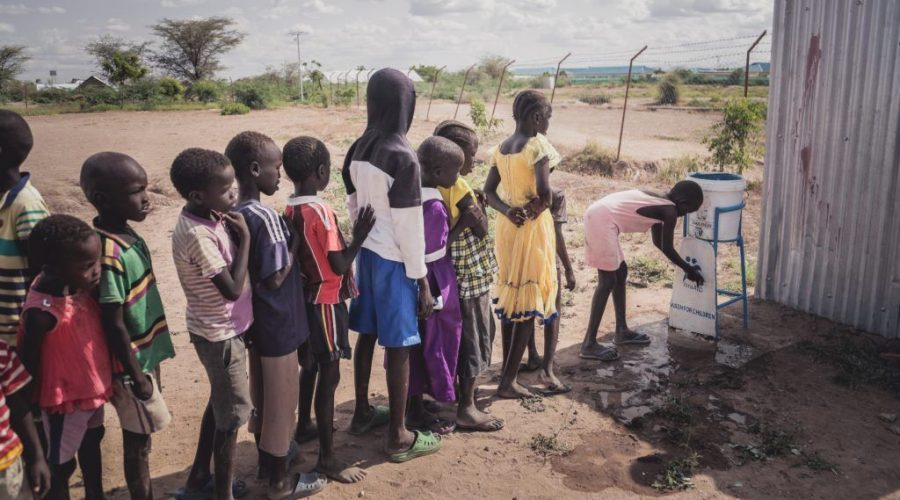 Children+line+up+for+clean+drinking+water+provided+by+an+Israeli+aid+group+at+the+Kakuma+refugee+camp+in+Kenya.+%28Courtesy+of+IsraAID%29