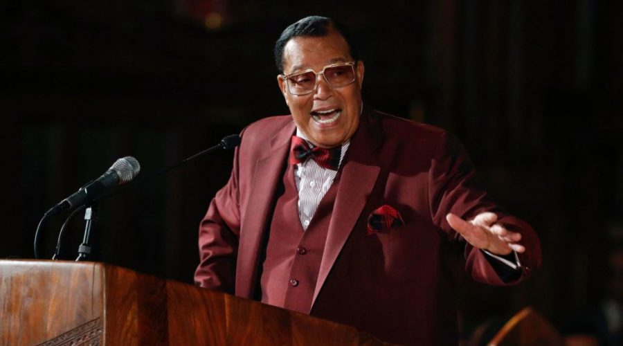 Nation of Islam leader Louis Farrakhan speaks at St. Sabina Catholic Church in Chicago, May 9, 2019. (Kamil KrzaczynskiI/AFP/Getty Images)