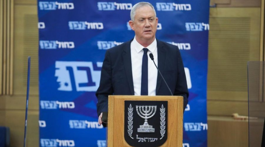 Benny+Gantz+speaks+at+a+Blue+and+White+party+meeting%2C+June+29%2C+2020.+The+defense+minister+reportedly+said+that+%22anything+that+is+not+related+to+the+coronavirus+will+wait.%E2%80%9D%C2%A0Photo%3A+Noam+Moskowitz